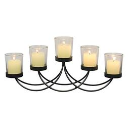 Briarwood Black Metal Votive Candelabra, Decorative Candle C