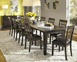 A-America Bristol Point Extendable Dining Table in Warm Gray