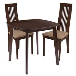 Flash Furniture Bristol 3 Piece Walnut Wood Dining Table Set