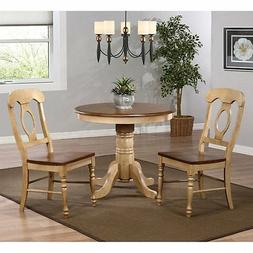 Sunset Trading Brookdale 3 Piece Round Cafe Dining Table Set