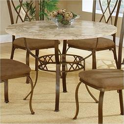 Hillsdale Brookside Stone Top Round Dinette Dining Table in