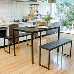 brown kitchen room 3 piece dining table