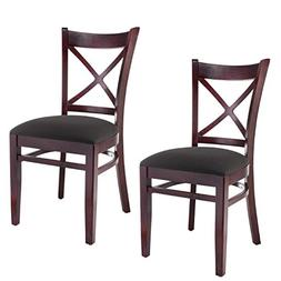 Beechwood Mountain BSD-106S-DM Solid Beech Wood Side Chairs