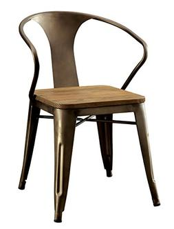 Furniture of America Cadiz Industrial Dining Chair, Natural