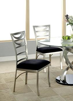 Furniture of America Catarina Metal Ladder-Back Dining Chair