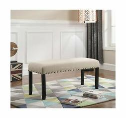 Roundhill Furniture CB162TA Biony Fabric Dining Bench with N