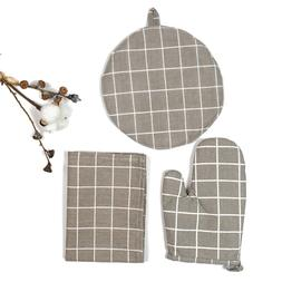CFen A's Simple Patterns Quality Table Napkin+Kitchen Glove+