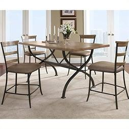 Hillsdale Charleston 5 Piece Counter Height Dining Set w/ La