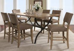 Hillsdale Charleston 7 Pc Counter Height Dining Set w/ Parso