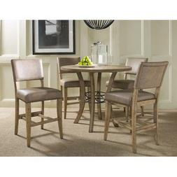 Charleston 5-piece Counter Height Round Wood Dining Set with