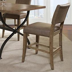 "Hillsdale Charleston 26"" Parson Counter Stool in Brown"