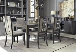 Chedoni Formal Wood Gray Color Dining Room Set: Rectangle Ex