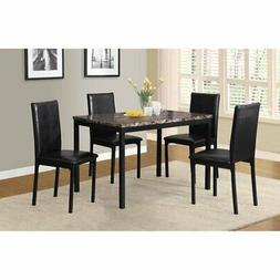 Roundhill Furniture Citico 5 Piece Metal Faux Marble Dining