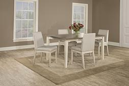 Clarion Five  Piece Rectangle Dining Set with Upholsted Chai