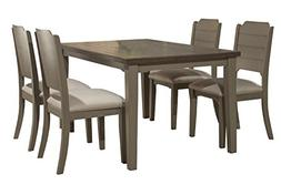 Clarion Five  Piece Rectangle Dining Set with Side Chairs -