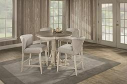 Clarion Five  Piece Round Counter Height Dining Set with Win