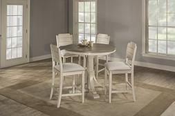 Clarion Five  Piece Round Counter Height Dining Set with Ope