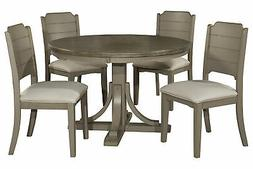 Clarion Five  Piece Round Dining Set with Side Chairs - Dist