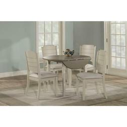 Clarion Five  Piece Round Drop Leaf Dining Set with Side Cha