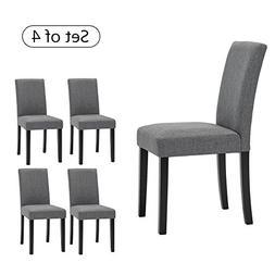 LSSBOUGHT Set of 4 Classic Fabric Dining Chairs Dining Room