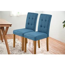 LSSPAID Classic Fabric Parson Dining Chairs with Solid Wood