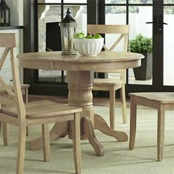 Home Styles Classic Pedestal Dining Table in White Wash Fini