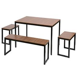 Harper&Bright Designs Collection Dining Table with Bench Set