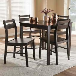 contemporary 5 piece dining set by brown
