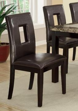 Contemporary Dining Chair w/ Brown Espresso and Pine Wood by