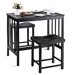 Giantex 3 PCS Counter Height Dining Set Faux Marble Table 2