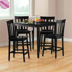 Counter Height Dining Set Breakfast Table Chairs Pub 5 Piece