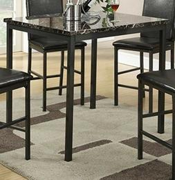 Counter Height Dining Set Table Faux Marble Metal Vintage Ki
