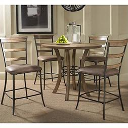 Hillsdale Furniture 5-Piece Counter Height Round Wood Dining