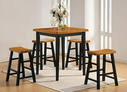 Acme 5Pc Pk Counter Height Set - 24 Seat, 36 x 36 x 36 Table