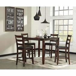 70f843d4d061ee Ashley Furniture Coviar Burnished Brown 5 Pc Counter Height