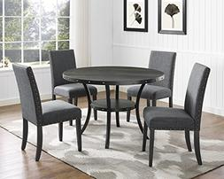 Roundhill Furniture D162GY Biony Dining Collection Espresso