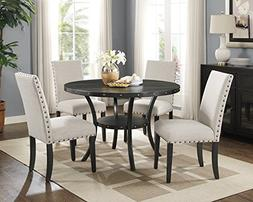 Roundhill Furniture D162TA Biony Dining Collection Espresso