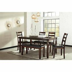 Signature Design Ashley Table Chair Bench Seat D385-325 6Pc
