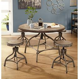 Simple Living Decker Adjustable Height Round Dining Set 3pc