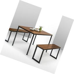 Zinus Dern Studio Collection Soho Dining Table With Two Benc