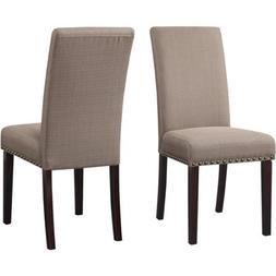 DHI Nice Nail Head Upholstered Dining Chair, Set of 2, Multi