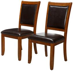 Monarch Specialties High Dining Chair, 38-Inch, Walnut, Set