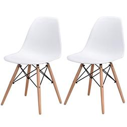 Giantex Set of 2 Dining Chairs Modern Accent Mid Century Sty