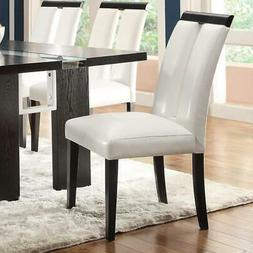 Coaster Home Furnishings Dining Chair, Black/White, Set of 2
