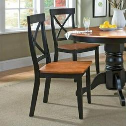 Home styles 5168-802 Dining Chair Black-Cottage Oak Finish 2