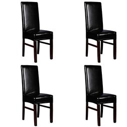 YISUN Dining Chair Covers, Solid Pu Leather Waterproof and O
