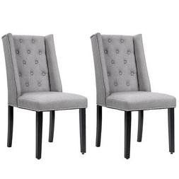 Dining Chair Set of 2 Elegant Dining Side Chairs Button Tuft