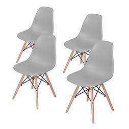 HOMY CASA Grey Dining Chairs Mid Century Side Chair for Dini