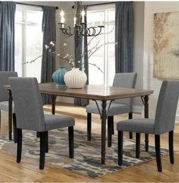 Walnew Dining Chairs Armless Urban Style Home Fabric Wood Le