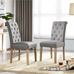 Dining Chairs Fabric High Back Classic Dining Room Chairs Ki